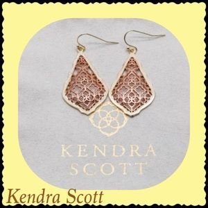 Kendra Scott Addie Gold Earring Rose Gold Filigree
